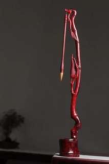 印度小叶紫檀制筆架