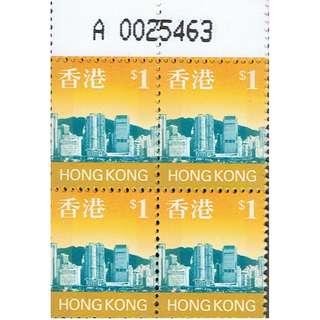 A版1元方連-香港海景普票共2方連-A0035463-4