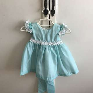 Crib Couture dress in mint green, size 6 mos