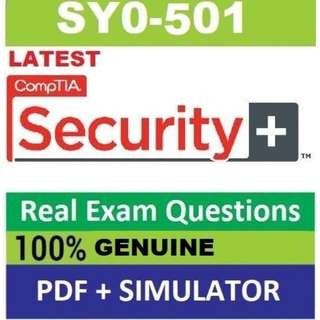 CompTIA Security SY0-501 Real Exam Q&A pdf and simulator