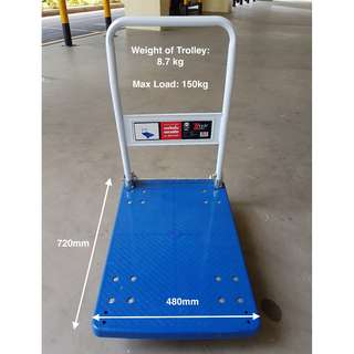 Heavy Duty Foldable Plastic Platform Trolley - Max weight load: 150KG ( 100% Brand New ) NOT 2nd Hand!