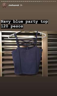 Navy blue party top