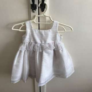 Crib Couture dress in stripes, size 6 mos