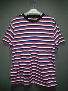 Kaos stripe Unisex nyaman.