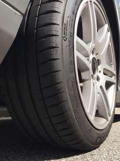 Michelin Pilot Sport 4 225/45/17 for Mercedes Benz W204 C180 C200 C250 C300  BMW Type R Golf GTI