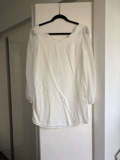 Finders Keepers - L/S Dress - White.