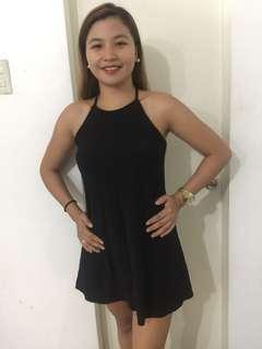 Black soft halter dress