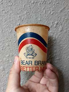 Vintage Bear Brand milk cups