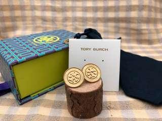 Tory Burch Vintage金色圓形耳環