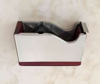Royal Selangor pewter & wood cellophane tape dispenser