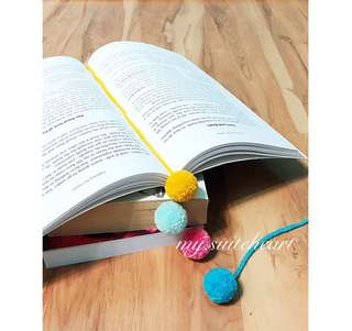 Mini Pompom Bookmarks