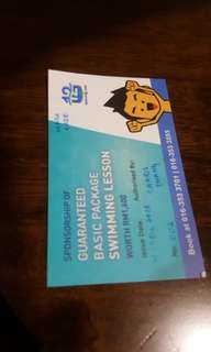 Swimming lesson voucher PJ State / Kelas Renang (guaranteed package)