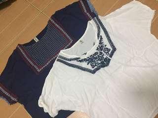 Boho Tops and Old Navy shorts