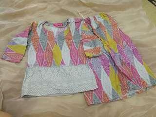 Baju Kurung Sireh Pinang 1 yrs old