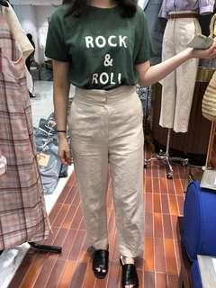 正韓系 米色 日本麻材質 韓妞必備 不管穿搭正式 休閒上衣都很百搭