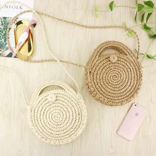 RATTAN / STRAW-WOVEN SLING BAG / SUMMER / BEACH / TRAVEL BAG (PRE-ORDER) 💯 FREE SHIPPING WITHIN METRO MANILA 💯