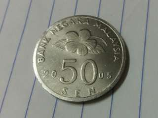 * Forgery* Bunga Raya 50sen 2005