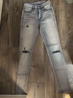AE distressed Jeggings