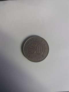 Old Coins - malaysian coins 50 sen 1968