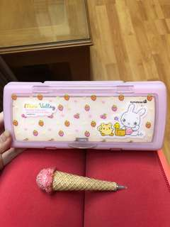 mini valley pencil case + ice cream pen