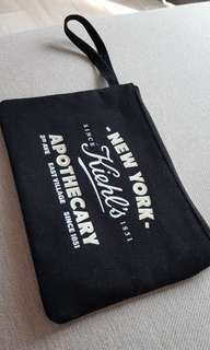 Kiehls black canvas bag