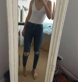 "Top shop ""Jamie"" Denim jeans"