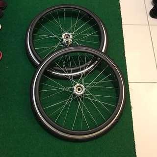 20 inch manual propelled wheel tyre n rim