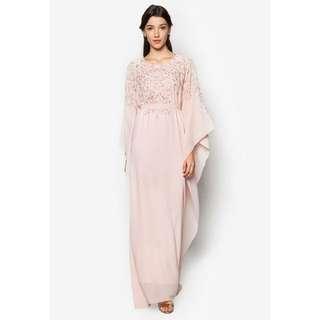 (RENT) Pink Zalia Embroidered Kaftan