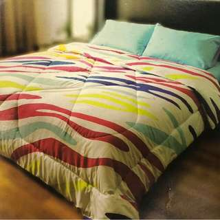 Sebra Dazzling High Quality Comforter & Bedsheet Set (with Pillow and Bolster Case)