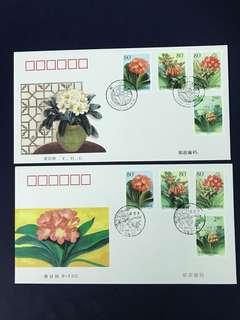 China Stamp- 2000-24 A/B FDC