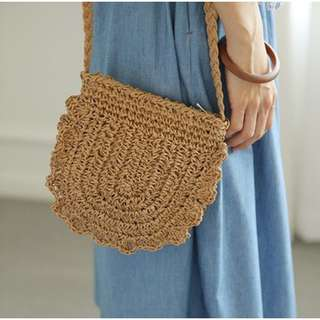 CROCHET-WOVEN SLING BAG / SUMMER / BEACH / TRAVEL BAG (PRE-ORDER) 💯 FREE SHIPPING 💯