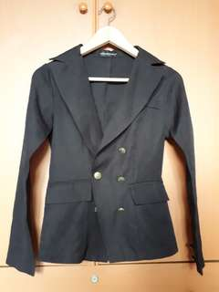 Catwalkclose double breasted blazer black