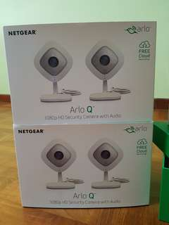 4x Netgear Arlo Q Wireless Home Surveillance Cameras