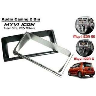 Myvi Icon Radio Casing Player Casing(Toyota Size)