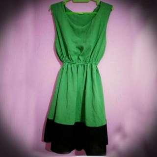 RePrice For Ramadhan Mini Dress Green