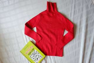 TURTLENECK LONG SLEEVED TOP FOR A LITTLE GIRL