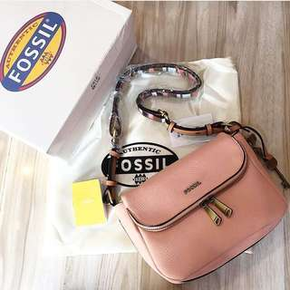 Fossil preston flap crossbody heritage blush