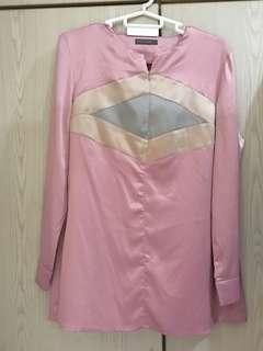 Poplook Satin Pink Blouse (free pos!)