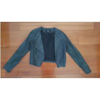 Oxford Genuine Italian Leather Cropped Jacket 6