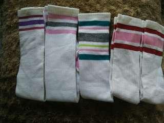 Jual 1 an harga 8k.Kaos kaki strip / kaos kaki stocking / stocking vintage