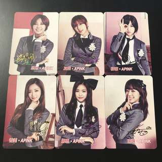 A18*(全彩簽) Apink Yescard YES卡彩簽名咭SET