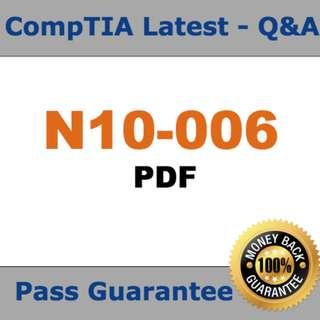 CompTIA Network+ N10-006 Practice Exam 2018 Verified (Q&A,PDF)