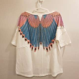 Forever 21 Wings White Tshirt Top