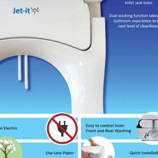 Jet-It Toilet Bidet Seat & Cover. $69  for 2nd pce. www.jetitbidet.com