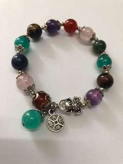 🚚 多寶珠手鍊⭐️草莓晶、天河石、紫晶⭐️貔貅款、貔貅手鍊、手串