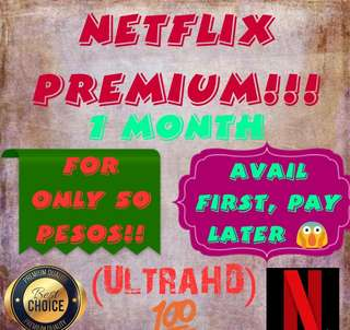 1 MONTH NETFLIX PREMIUM ACCOUNT!