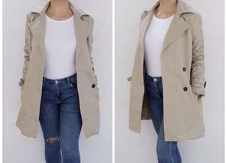 Unbranded Cream Trench Coat