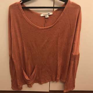 Forever 21 rust light knit top