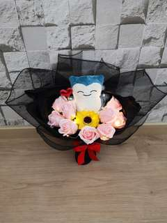 Snorlax rose bouquet