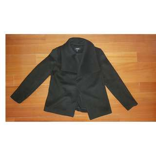 Oxford Black Wool Jacket Coat 6